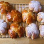 булочки с сахарной пудрой