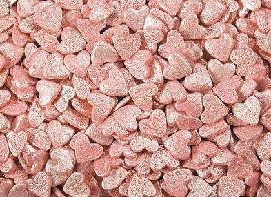 """Посыпки """"Сердца розовые перламутровые"""""""