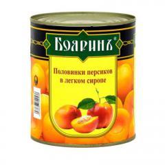 """Персики в сиропе """"Бояринь"""""""