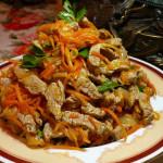 Рецепт — Корейский салат с мясом