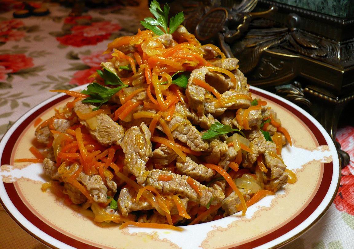 Рецепт - Корейский салат с мясом