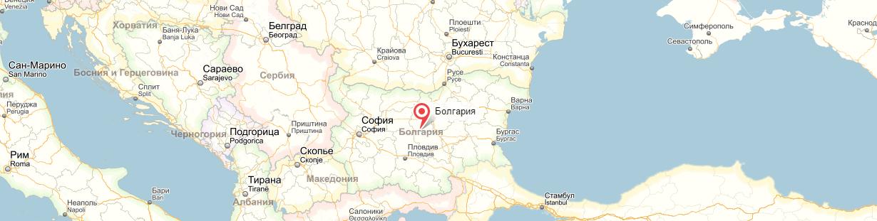 Болгария на карте