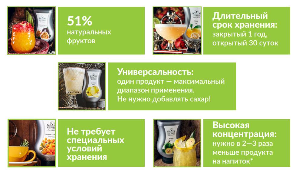 Преимущества фруктовых концентратов